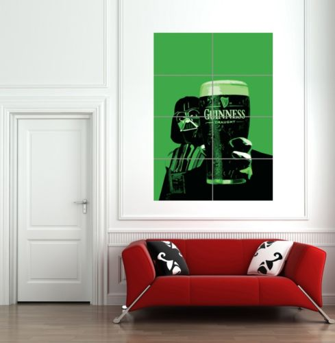 DARTH VADER GUINESS GIANT WALL ART POSTER