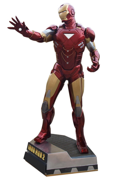 Iron Man 2 Life-Size Statue Iron Man Clean Version 225 cm