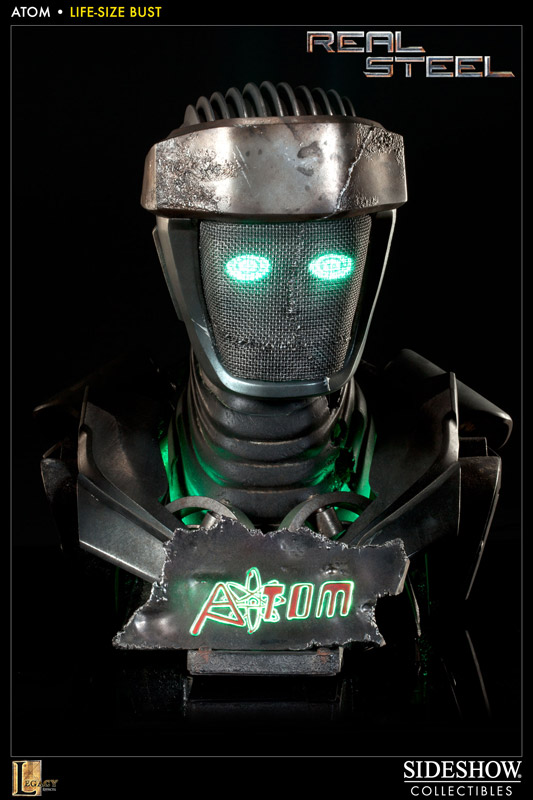 Real Steel Bust 1/1 sideshow Atom 56 cm